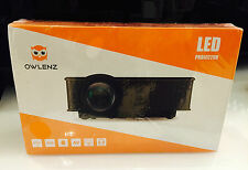 OWLENZ-SD50 Plus LED Mini Projecteur LCD Multimédia Portable Cinéma - BLANC