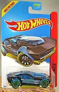 2014 Hot Wheels #173 HW Race X-Raycers DRIFT ROD Transparent Black//Blue w//10 Sp