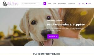 Pet Dropshipping Store - Full Setup, Domain and 1st Month Hosting Included!