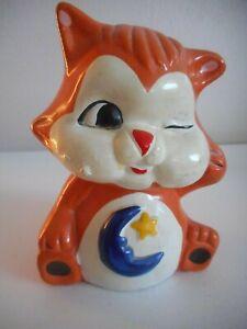 Vintage Chalkware or ceramic Orange Kitten Bank Carnivalware