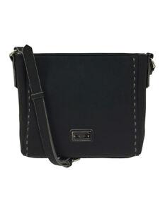 NEW-Cellini-Sport-Trudy-Zip-Top-Crossbody-Bag-Black