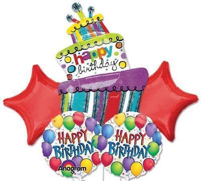 Fine 5 Pc Wacky Wild Birthday Cake Balloon Bouquet Free Ship Funny Birthday Cards Online Elaedamsfinfo