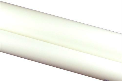 "/""Delrin/"" 1/"" diameter x 1 FT Natural//White Acetal Rod"