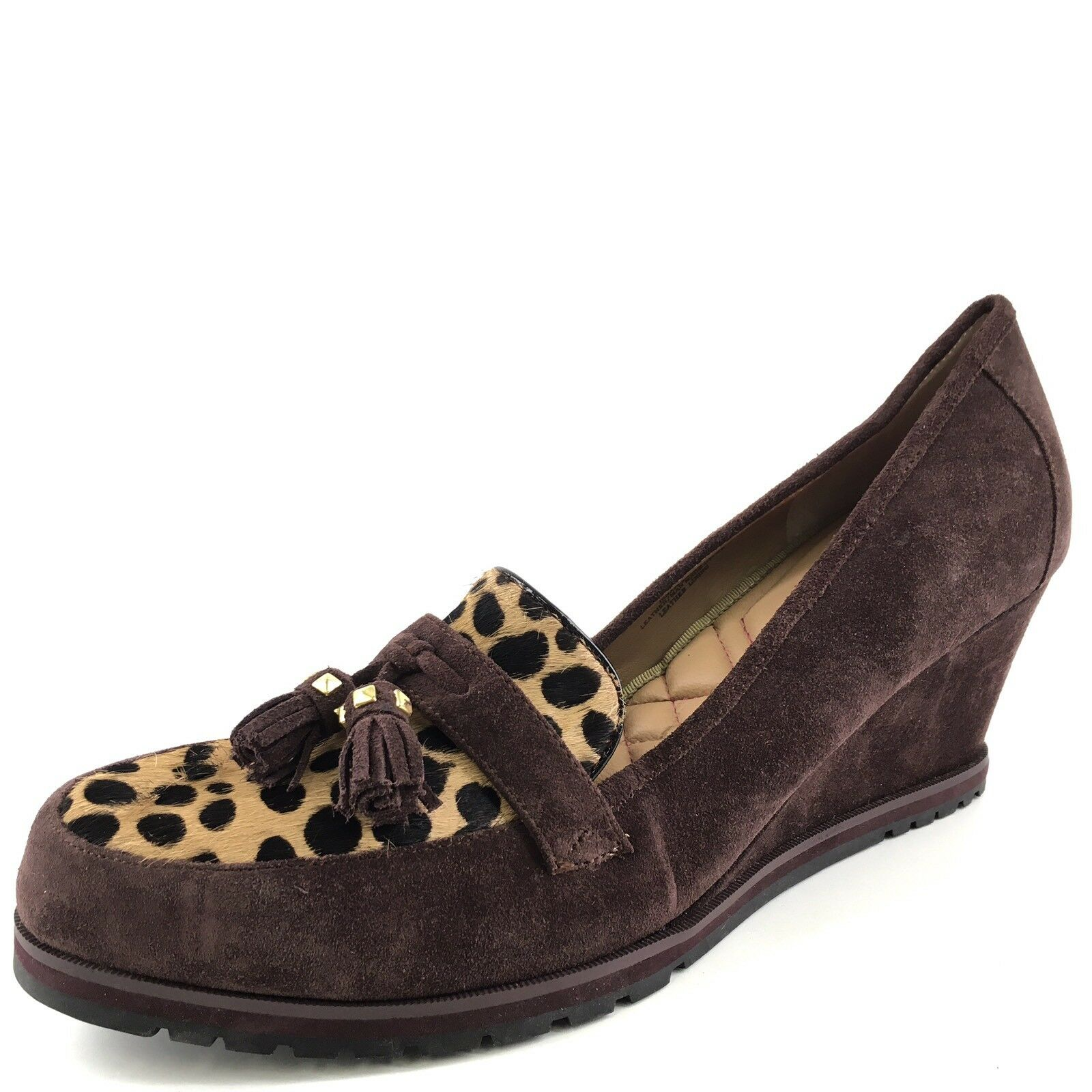 è scontato Isaac Mizrahi New York Marrone Marrone Marrone Suede Napleslee Wedge Loafers donna's Dimensione 11 M  connotazione di lusso low-key