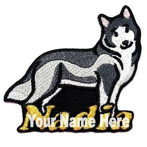 Siberian Husky Dog Custom Iron-on Patch With Name Personalized Free