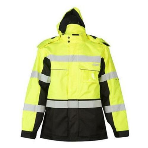 ML Kishigo JS140 Lime Premium Black Series Parka Jacket 2XLARGE Repels Water//Oil