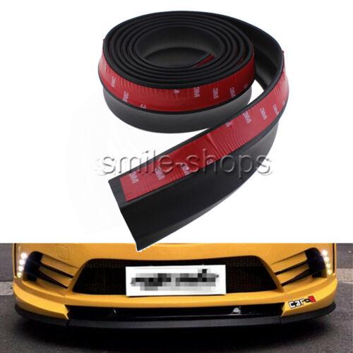 2.5M Front Car Lip Skirt Protector Bumper Spoiler Side Rubber Splitter Body Chin