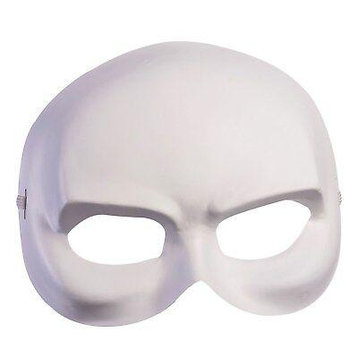 Adulto Carnevale Fantasma Bianco Maschera Mezzo Viso Costume Accessorio