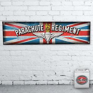 PARACHUTE-REGIMENT-GARAGE-Banner-heavy-duty-for-workshop-1700-x-430mm