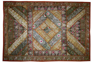 Silver-zari-work-hand-embroidered-wall-hanging-tapesty-throw-tapestires-India