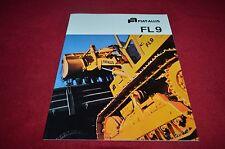 Fiat Allis Chalmers FL9 Crawler Loader Dealer's Brochure YABE11 Ver81