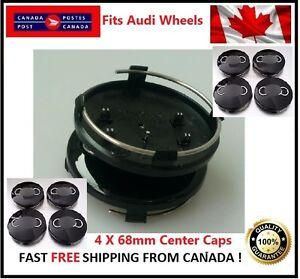 Fits-Audi-Wheels-CENTER-WHEELS-RIMS-HUBS-CAPS-68MM-BLACK-Silver-Circle-Univesal