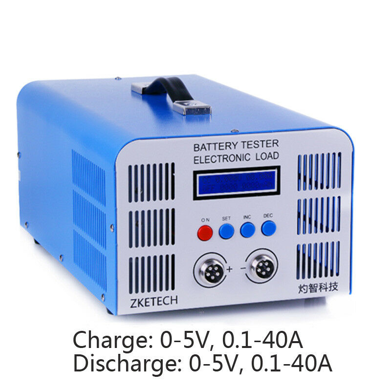 Lithium Capacity Tester 5v40A Charge 40A Discharge Battery Cycle Testing Instrum
