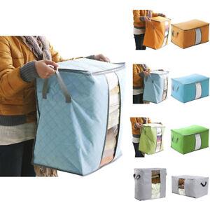sac bo te rangement pliable bambou pr couette oreiller v tement couverture draps ebay. Black Bedroom Furniture Sets. Home Design Ideas