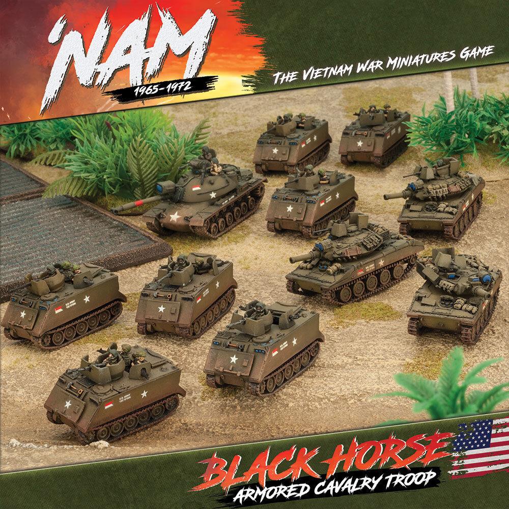 Vuelta de 10 dias Nam miniaturas de 1965-1972 guerra de Vietnam-Tropa De Caballería Caballería Caballería Caballo Negro  tienda en linea