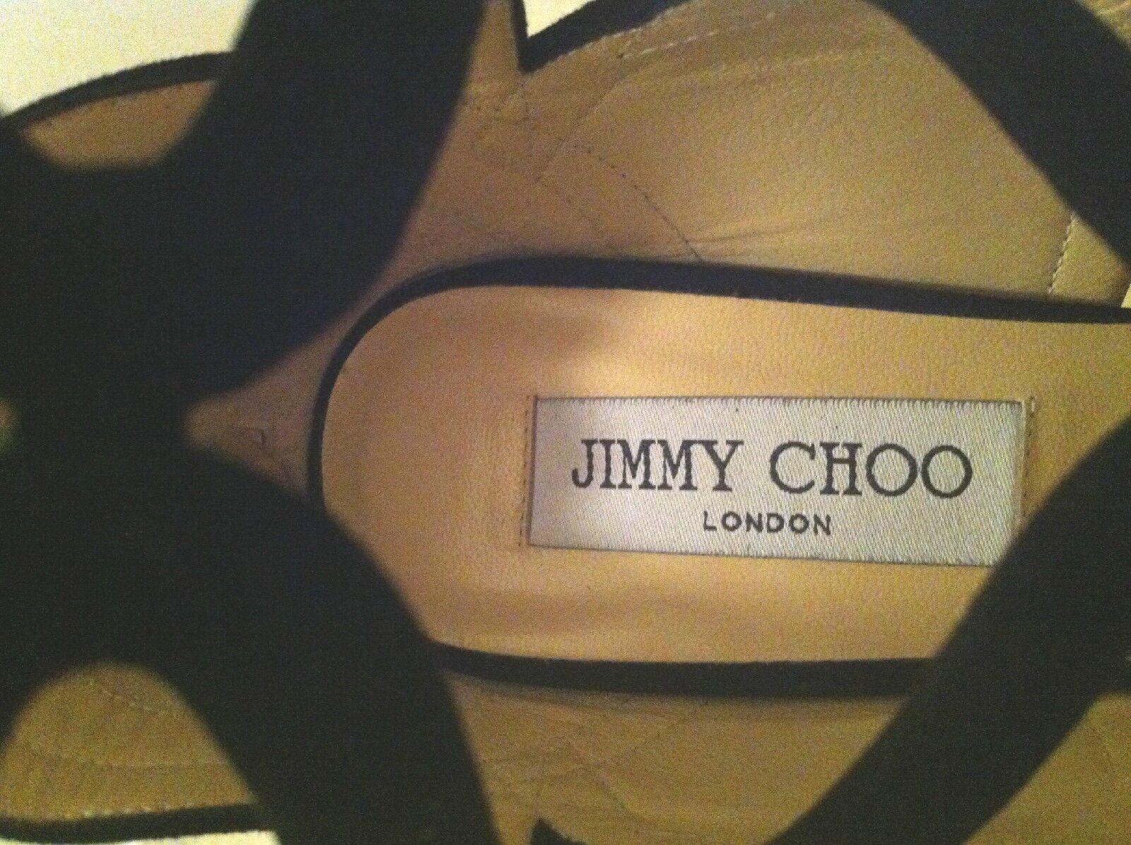 JIMMY CHOO DESIGNER WOMEN'S SILVER SILVER SILVER SEQUIN PEEP TOE PUMP HEEL SIZE 36.5 (US 6.5) c53d6e