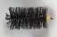 thumbnail 2 - CFC038 225mm/9 inch dia Polypropylene Pull Thru Flue Brush 200mm long