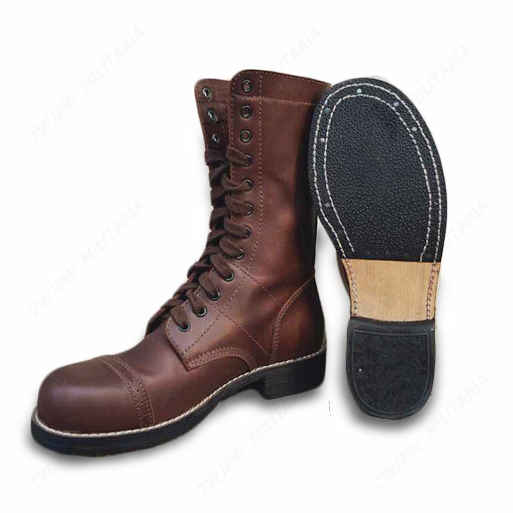 Segunda Guerra Mundial US Airborne Paracaidista Servicio De Cuero Zapatos botas Militares salto de combate