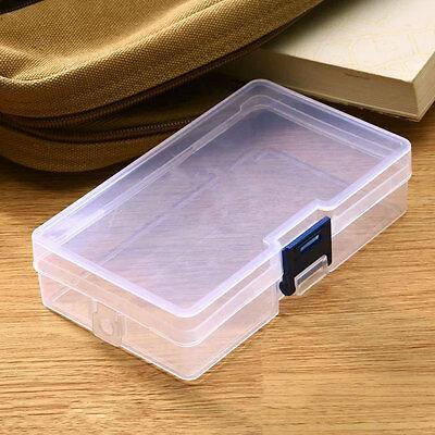 Plastic Transparent Storage Box Jewelry Craft Nail Bead Container Organizer Case