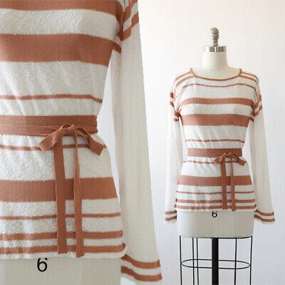 Vintage 70s Saks Fifth Avenue striped knit top Sol\u00e9 Crochet sweater crochet knit sweater