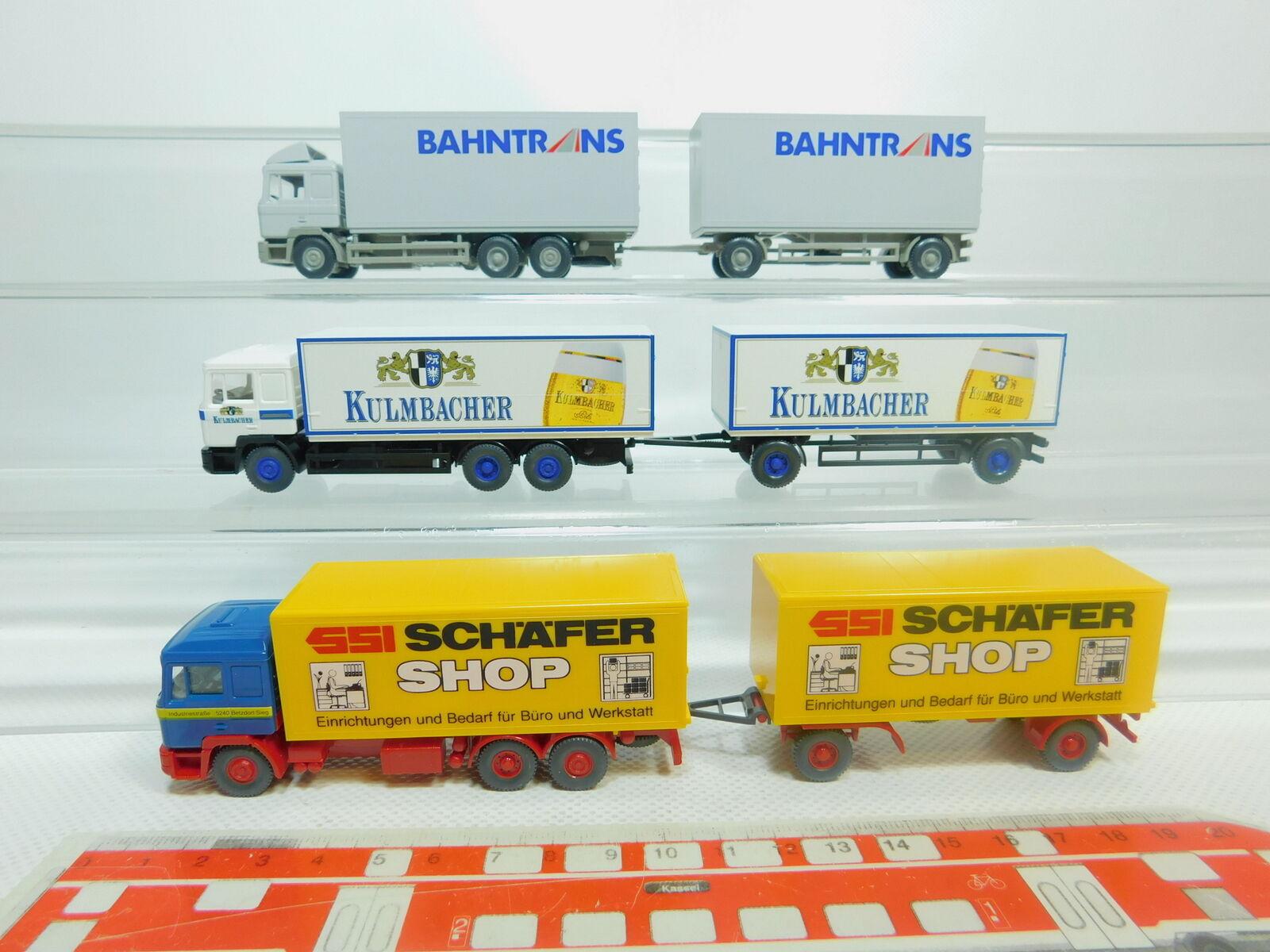BO815-0,5x BO815-0,5x BO815-0,5x Wiking H0 1 87 Lastzug MAN  Kulmbacher+SSI Schäfer+Bahntrans, s.g. 283e6c