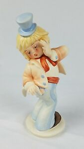 Goebel-Oops-da-Gerhard-Skrobek-Clown-Bisque-Figurina-Germania-Ceramica