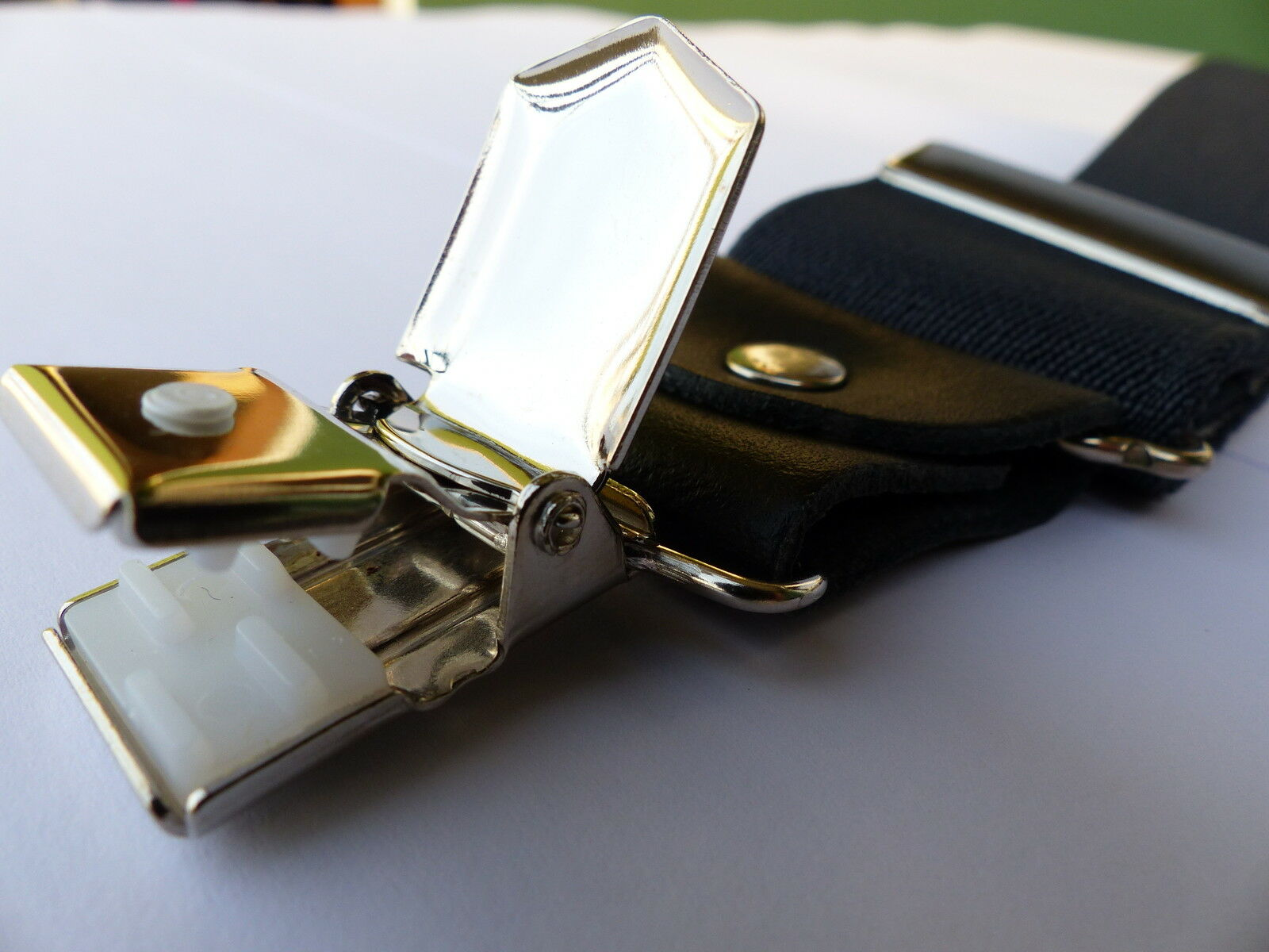 Hosenträger 45mm Doppel-Clip EXTRA-STARK mit ECHT-Lederbesatz-Langlebig