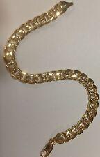 "14KT Solid Gold Miami Cuban Curb Solid Link 8.5"" 5 mm 13 grams BRACELET  MC150"
