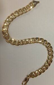 10k-Solid-Yellow-Gold-Miami-Cuban-Curb-Solid-Link-8-5-5-8mm-16-grams-Bracelet