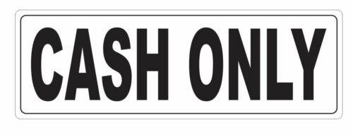 Cash Only Sticker D3670
