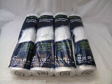 Four (4) 10' x 25' Roll Plastic All Purpose Clear 3 mil Cover Sheet Free Ship!!!