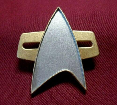 Star Trek Voyager Communicator Pin Combadge Com Badge Uniform Costume