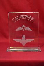 Parachute Regiment crystal plaque Airborne Forces, Special Forces & LED base