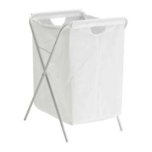 Ikea Manifestaient Blanc Linge Lavage Linge Vetements Panier Sac Avec Pliable Support Neuf Ebay