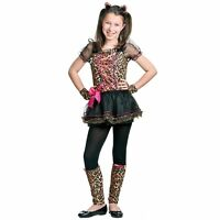 GIRLS PRECIOUS LEOPARD ANIMAL CAT CHEETAH FANCY DRESS COSTUME