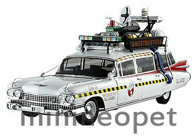 ELITE X5470 CULT CLASSIC GHOSTBUSTERS 2 ECTO 1A CADILLAC AMBULANCE 1/18