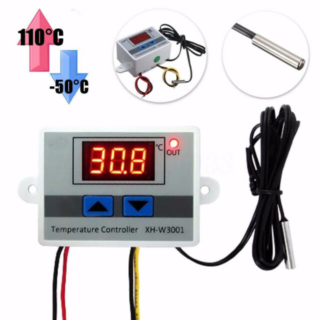 220V Digital LED Temperature Controller 10A Thermostat Control Switch Probe PA