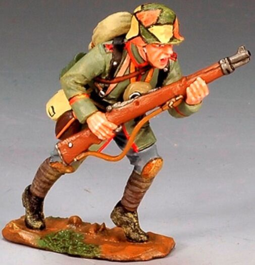 KING & COUNTRY FIRST WAR FW055 WW1 GERMAN ADVANCING WITH RIFLE MIB