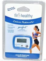 Fit & Healthy Calorie Pedometer - Measures Distance And Calories Burned & Steps