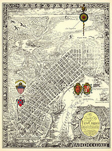 vintage new orleans map Vintage Pictorial Map Creole City Of New Orleans Wall Art Poster vintage new orleans map