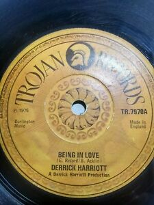 Derrick-Harriott-Being-In-Love-I-Told-You-So-7-034-Vinyl-Single-1975-UK-COPY