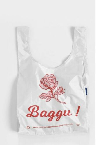 NWT Discontinued Pattern BAGGU THANK YOU ROSE Standard Size Reusable Bag