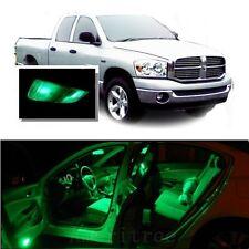 For Dodge Ram 1500 2002-2008 Green LED Interior Kit + Green License Light LED