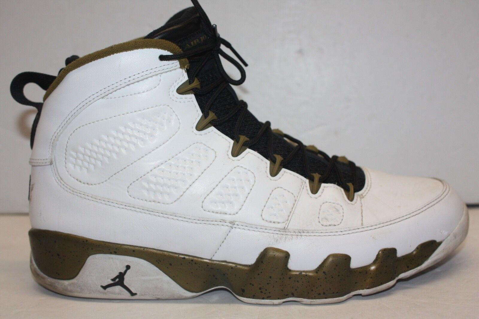 003e4a94074fe ... Nike Air Jordan Retro IX 9 MILITIA MILITIA MILITIA GREEN Statue Spirit  Copper 302370-109 ...