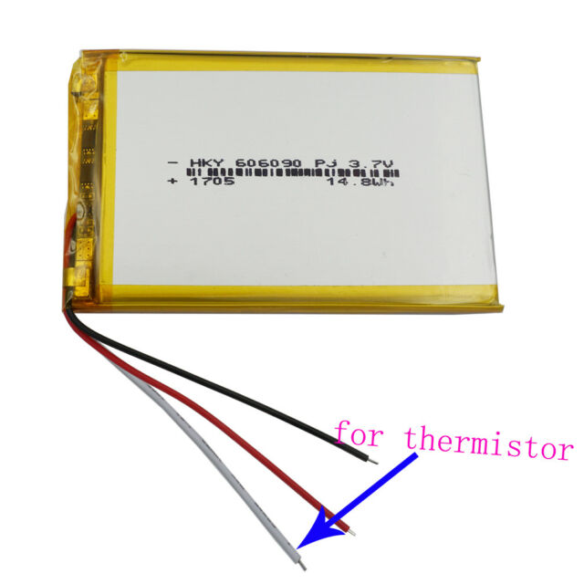 Magnificent 3 7V 4200 Mah 3 Wires Thermistor Polymer Li Battery For Gps Dvd Wiring Digital Resources Funapmognl