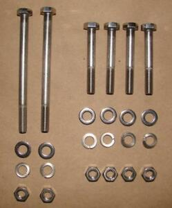 HONDA-XR75-1973-1976-POLISHED-HEXHEAD-STAINLESS-ENGINE-MOTOR-MOUNT-BOLT-KIT-SET