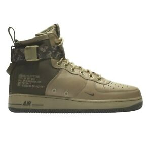 Nike SF Air Force 1 Special Field Mid Mens Neutral Olive Green Camo ... 49e1409af