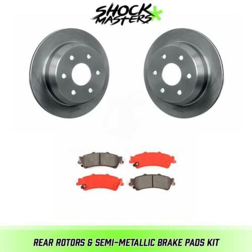Rear Semi-Metalic Brake Pads /& Rotors Kit for 1999-2000 Chevrolet Silverado 1500
