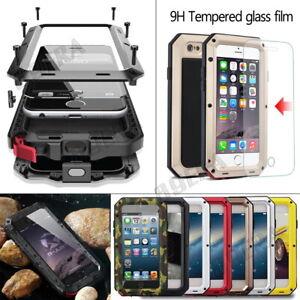 Aluminum-Metal-Bumper-Gorilla-Tempered-Glass-Case-For-iPhone-5-6-7-8-11-X-XS-Max