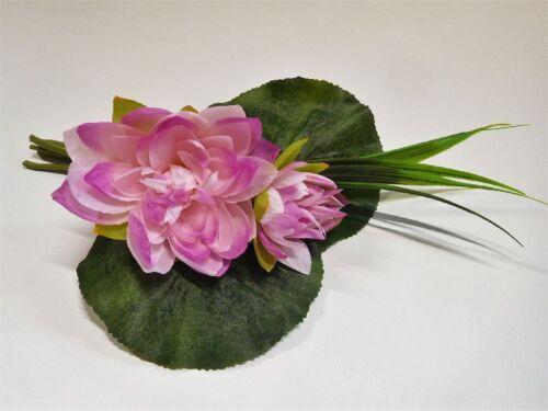 Nénuphars autruche Nénuphar Lotus Bouquet en Soie Fleurs 30 Cm Rose Pink 40139-20 f16
